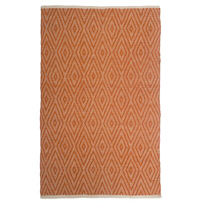 Estate Indoor/Outdoor Hand-Woven Orange Area Rug Rug Size: 3 x 5