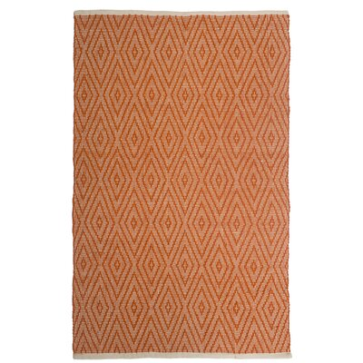 Estate Indoor/Outdoor Hand-Woven Orange Area Rug Rug Size: 2 x 3