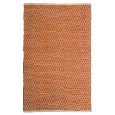Estate Indoor/Outdoor Hand-Woven Orange Area Rug Rug Size: 8 x 10