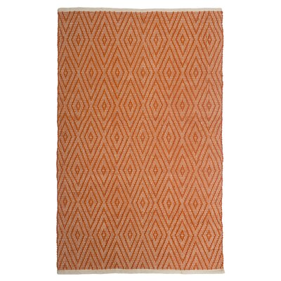 Estate Indoor/Outdoor Hand-Woven Orange Area Rug Rug Size: 4 x 6