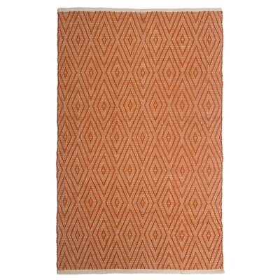 Estate Indoor/Outdoor Hand-Woven Orange Area Rug Rug Size: 6 x 9