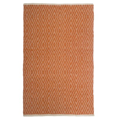 Estate Indoor/Outdoor Hand-Woven Orange Area Rug Rug Size: 5 x 8