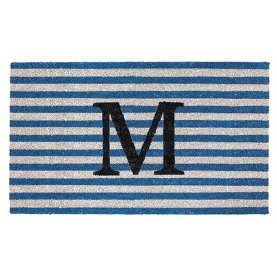 Monogram Door Mat Letter: M
