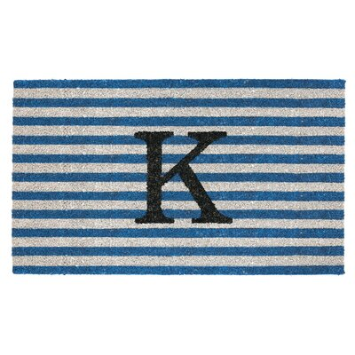 Monogram Door Mat Letter: K
