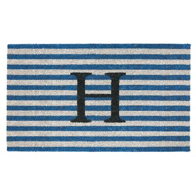 Monogram Door Mat Letter: H