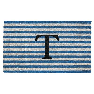 Monogram Door Mat Letter: T