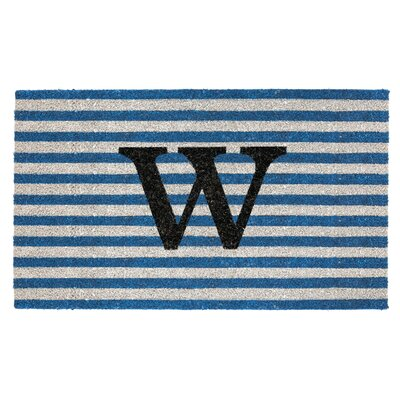 Monogram Door Mat Letter: W