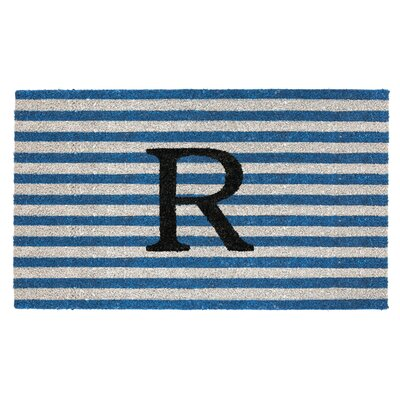 Monogram Door Mat Letter: R