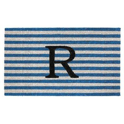 Monogram Door Mat Letter: R
