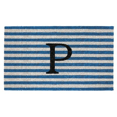 Monogram Door Mat Letter: P