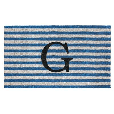 Monogram Door Mat Letter: G