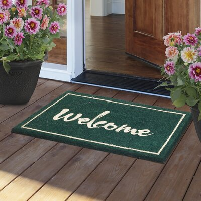 Painted Welcome Door Mat
