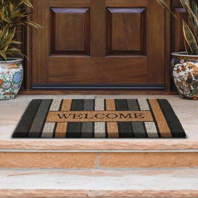 Stenciled Welcome Door Mat