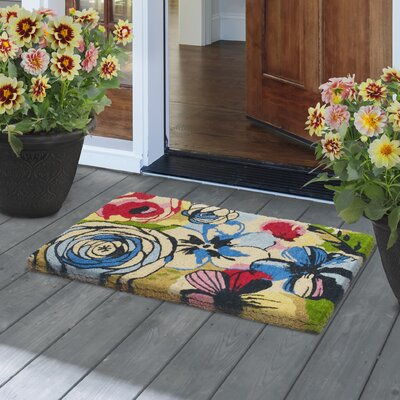 Watercolor Floral Door Mat
