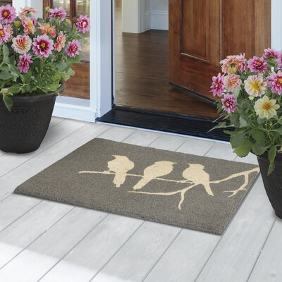 Birds on Branch Door Mat