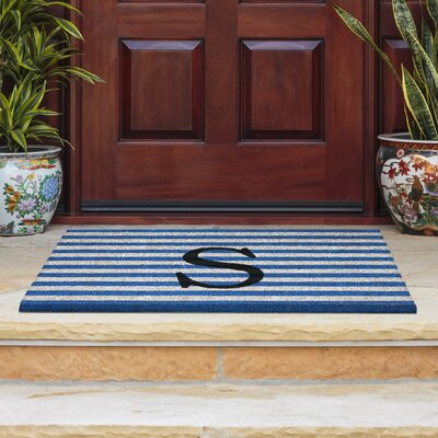 Monogram Door Mat Letter: S