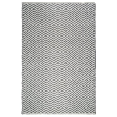 Markowski Hand-Woven Gray/White Indoor/Outdoor Area Rug Rug Size: 5 x 8