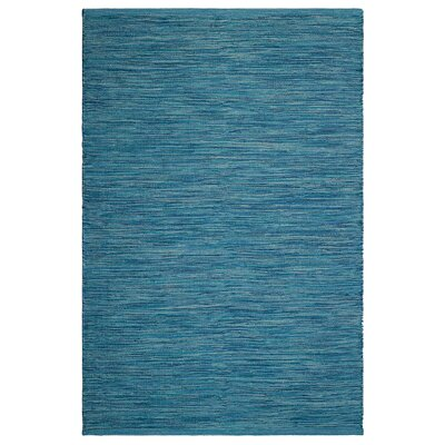 Markowski Hand-Woven Blue Indoor/Outdoor Area Rug Rug Size: 5 x 8