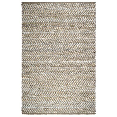 Naugatuck Canyon Hand-Woven Light Brown/White Area Rug Rug Size: 2 x 3