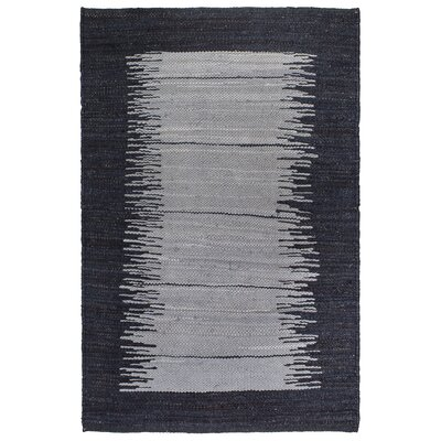 Metro Bryce Hand-Woven Charcoal Area Rug Rug Size: 5' x 8'