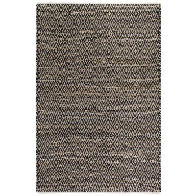 Metro Madera Hand-Woven Black/Natural Area Rug Rug Size: 5 x 8