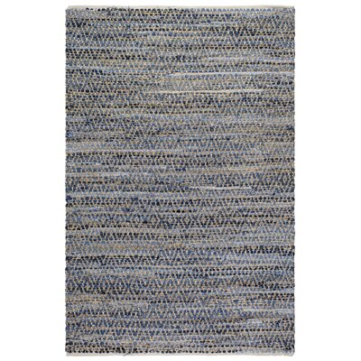 Metro Myrtle Hand-Woven Natural/Denim Indoor/Outdoor Area Rug Rug Size: 8 x 10