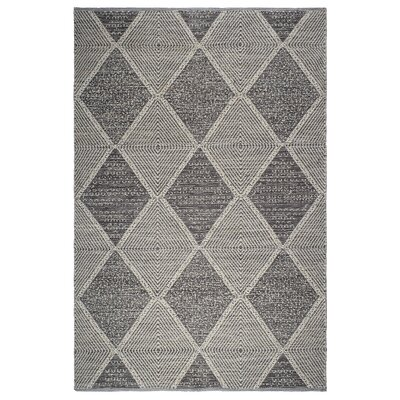 Cowger Hampton Hand-Woven Gray Indoor/Outdoor Area Rug Rug Size: 6 x 9