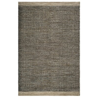 Markowski Hand-Woven Black/Beige Indoor/Outdoor Area Rug Rug Size: 4 x 6