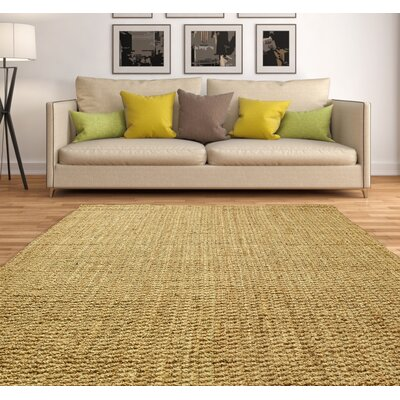 Essentials Hand-Woven Brown Area Rug Rug Size: 6 x 9