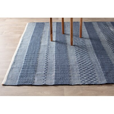 Estate Hand-Woven Blue Indoor/Outdoor Area Rug Rug Size: 3 x 5