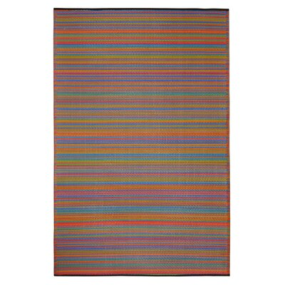 Raub Hand Woven Yellow/Red Indoor/Outdoor Area Rug Rug Size: Rectangle 8 x 10