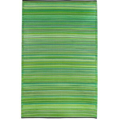 Raub Hand-Woven Green Indoor/Outdoor Area Rug Rug Size: Rectangle 8 x 10