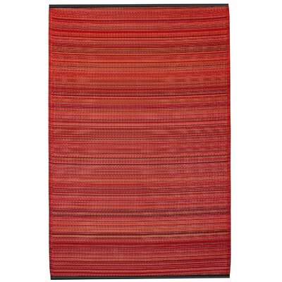 Raub Sunset Red Indoor/Outdoor Area Rug Rug Size: Rectangle 8 x 10