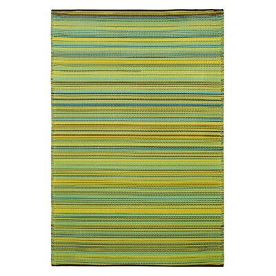 Raub Blue/Green Outdoor Area Rug Rug Size: Rectangle 8 x 10
