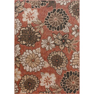 Atkinson Floral Multi-color Indoor/Outdoor Area Rug Size: Rectangle 52 x 76
