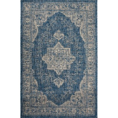 Corell Park Persian Blue Indoor/Outdoor Area Rug Size: Rectangle 52 x 76