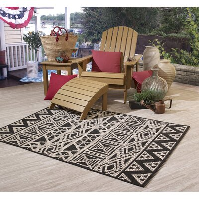 Walsenburg Beige Indoor/Outdoor Area Rug Size: Rectangle 52 x 76