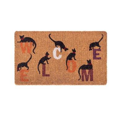 Heanue Inquisitive Cat Handwoven Doormat