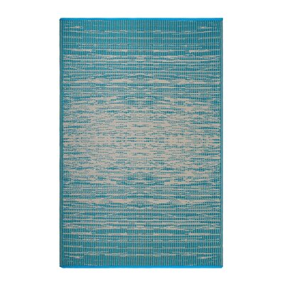 Bentley Teal Indoor/Outdoor Area Rug Rug Size: Rectangle 6 x 9