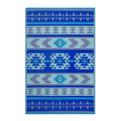 Conner Blue Indoor/Outdoor Area Rug Rug Size: Rectangle 4 x 6