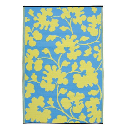Fab Rugs World Oslo Turquoise/Lemon Yellow Rug - Rug Size: 6' x 9' at Sears.com