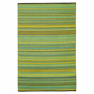 Raub Blue/Green Outdoor Area Rug Rug Size: Rectangle 4 x 6