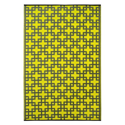 Rheinsberg Sunny Lime World Indoor/Outdoor Area Rug Rug Size: 6 x 9