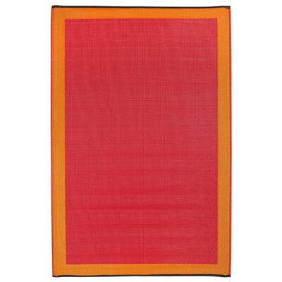 Skien World Orange Indoor/Outdoor Area Rug Rug Size: 5 x 8