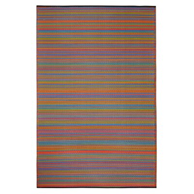 Raub Hand Woven Yellow/Red Indoor/Outdoor Area Rug Rug Size: Rectangle 5 x 8
