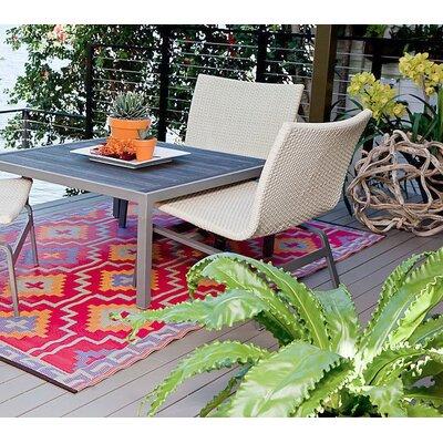 Carleton Orange/Violet Indoor/Outdoor Area Rug