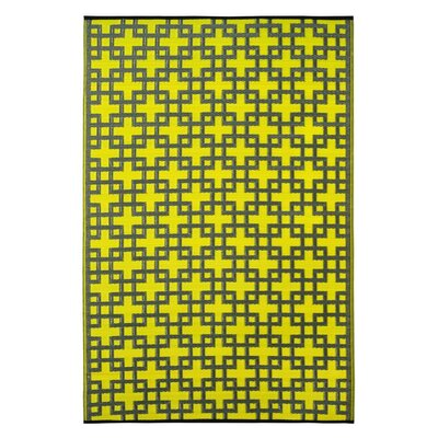 Rheinsberg Sunny Lime World Indoor/Outdoor Area Rug Rug Size: 4 x 6