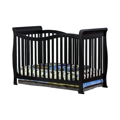Violet 7 in 1 Life Style Convertible Crib Finish: Black 655-K