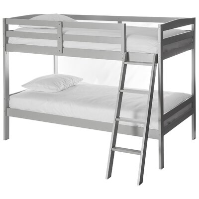 Taylor Twin over Twin Bunk Bed Bed Frame Color: Gray