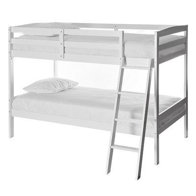 Taylor Twin over Twin Bunk Bed Bed Frame Color: White